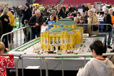 A model of the real theatre building located in Zagreb, Croatia. Here on display at LEGO World in Copenhagen, February 2009